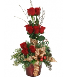 ​Christmas Rose Topiary Send to Philippines