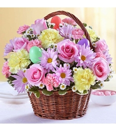 Easter Flowers & Egg Basket to Philippines