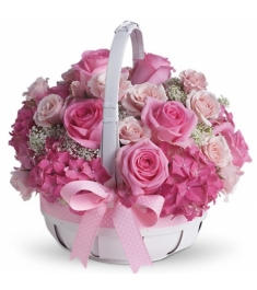 12 Pretty in Pink Flower Basket to Philippines