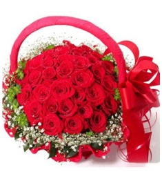 36 Red Roses in Basket to Philippines