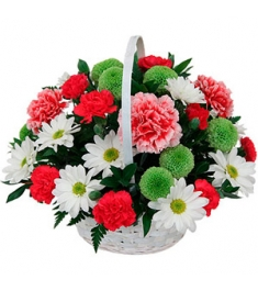Romantic Mixed Flowers in Basket to Philippines