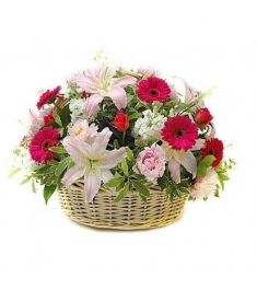 Mixed Flower Basket Send to Philippines