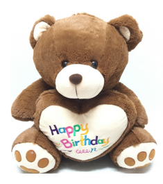 send brown color teddy bear heart to Philippines