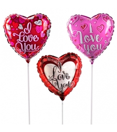 3 piece heart shaped mylar balloon to philippines