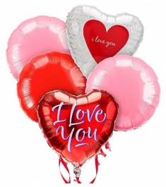 5 pieces valentines mylar balloon to philippines
