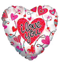 heart shaped i love you mylar balloon to philippines