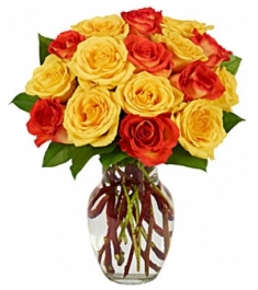 yellow and red rose vase to philippines