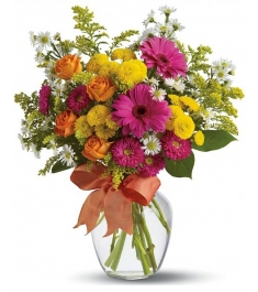 mix flowers in a vase to philippines