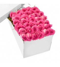 3 Dozen Pink Roses in a Box Delivery to Philippines,Roses Box to Philippines