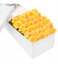 3 Dozen Yellow Roses in a Box Online Order to Philippines