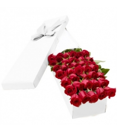 2 Dozen Red and Peach Roses in a Box Send to Philippines