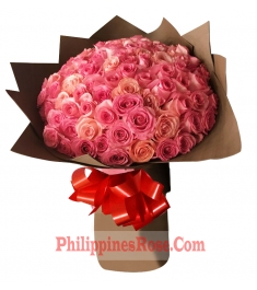 buy 100 pink roses bouquet philippines