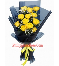 12 yellow roses bouquet philippines