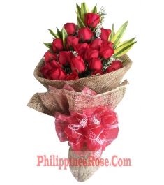 24 red roses bouquet in philippines