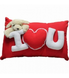 Send Wesley Pillow w/ I Love You & Bear To Philippines
