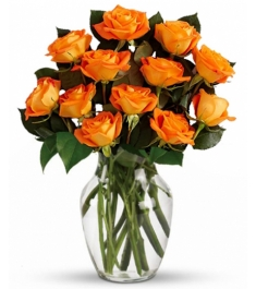 12 Orange Roses Send to Philippines,Roses to Philippines