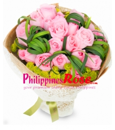 Two Dozen Red Roses in Bouquet to Philippines