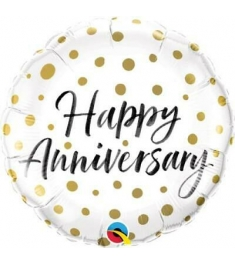 One Anniversary Mylar Balloon