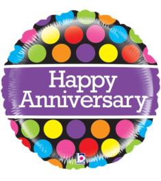 1pcs Anniversary Mylar Balloon