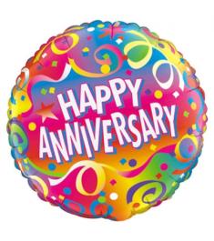 One Anniversary Mylar Balloon