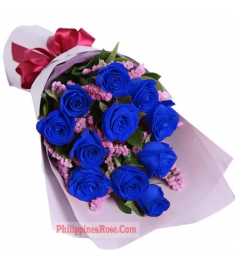 12 blue roses bouquet in philippines