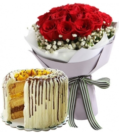 buy flowers with cake combo philippines