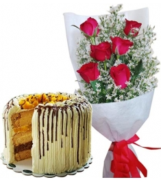 send roses with cake to philippines