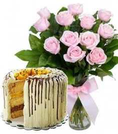 buy roses vase with cake to philippines