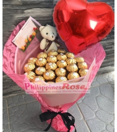 Ferrero Pink  Bouquet Send to Manila Philippines