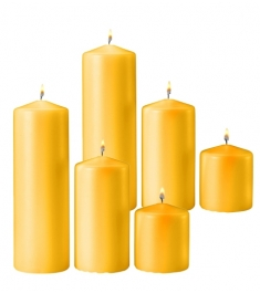 6 Pcs Red Color Candles