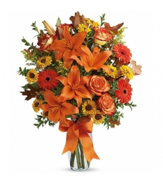 Halloween Flowers in Vase