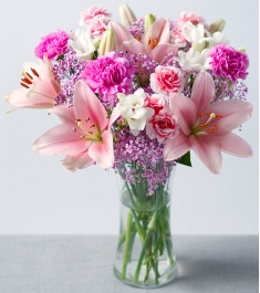 lilies carnations with mix flowers to philippines