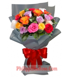 12 mix roses bouquet in philippines