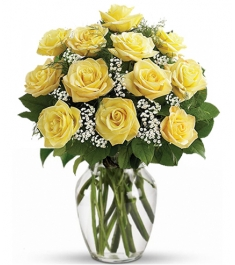 12 Yellow Roses Send to Philippines,Roses to Philippines