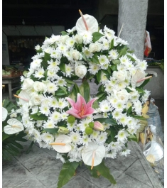 White Flowers Arrangement For All Saint's Day