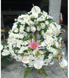 White Flowers Arrangement For All Saint's Day