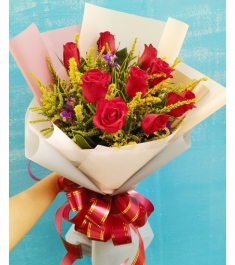 9Pcs Red Roses To Philippines