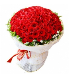 100 Blooms of Red and Red Roses Delivery to Philippines
