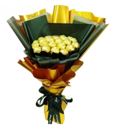 16 Pcs of Ferrero Rocher Chocolates Bouquet
