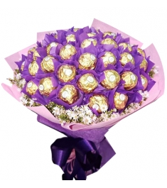 24 Pcs of Ferrero Rocher Chocolates Bouquet