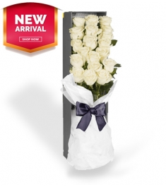 send 12 white roses to philippines