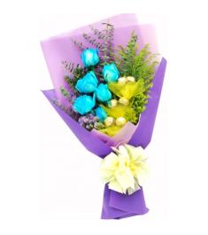12 Blue Ecuadorian Roses to Philippines