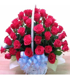 36 Red Roses Basket to Philippines