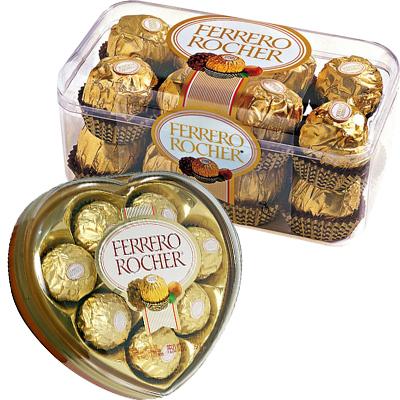 Ferrero Rocher Heart Shape & 16 pcs Box
