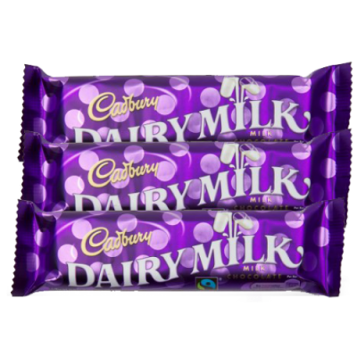 Cadbury Dairy Milk 3 Bars 30g and 15g Each Online Order to Philippines
