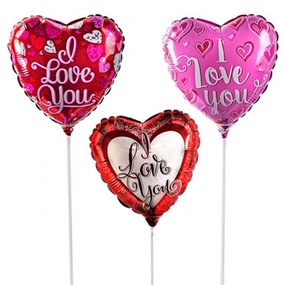 3 piece heart shaped mylar balloon to philippines