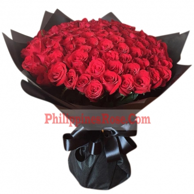 buy 100 red roses bouquet philippines