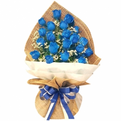 24 pcs of Blue Roses in a Bouquet