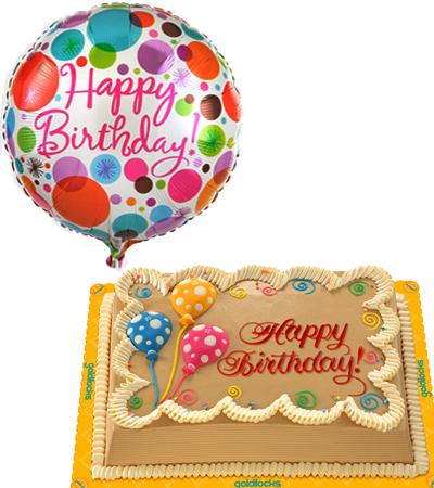mocha chiffon cake with balloon to philippines