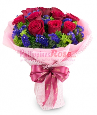 24 Red Roses send to philippines